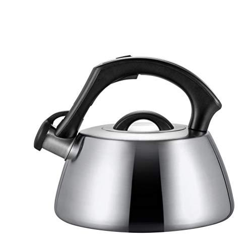 Bouilloire en Acier Inoxydable for Stove Top, Ergonomique Whistling Teapot, Adapté for La Maison Cuisine (Couleur : Silver)