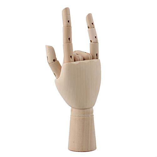 BQLZR Hand/Gelenkpuppe aus Holz, voll beweglich, für Künstler und Maler holzfarben