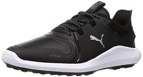 Puma 194466, Zapatos de Golf Hombre, Negro Plata Negro, 44.5 EU