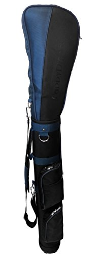 CaddyDaddy Golf Ranger Carry Sunday Range Travel Bag, Black/Blue