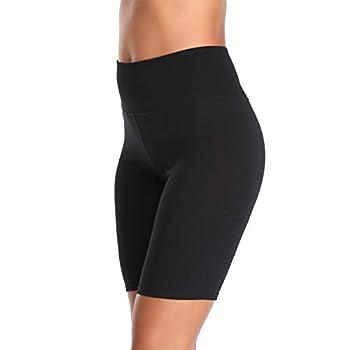 K-CHEONY Cotton Spandex Stretch Anti Chafing Boy Shorts Safety Panty Bike Shorts,Slip Shorts for Under Dresses  Black 1 Pack Small