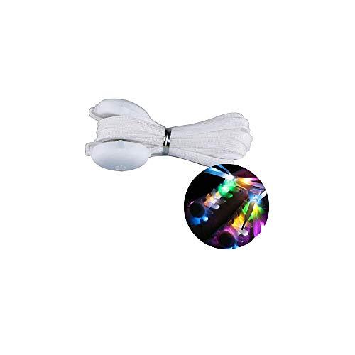 LED-Schnürsenkel, Nylon, blinkende Schnürsenkel mit vier Modi für Party, Hip-Hop, Wandern, Tanzen, Laufen (1 Paar, 120 cm), Seven Colors light, 120 cm
