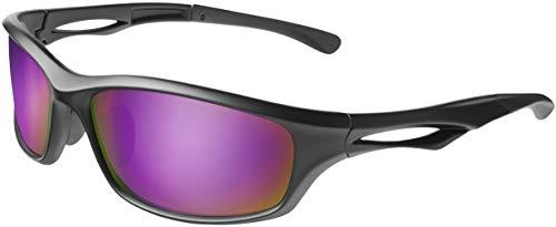 Balinco Gafas de sol deportivas polarizadas con protección UV400 para hombres y mujeres, perfectas para esquiar y hacer snowboard en la pista de esquí
