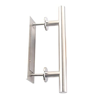 Shile 12 Inch Stainless Steel Rustic Barn Door Hardware Handle Set And Pull Wood Door Two-side handles