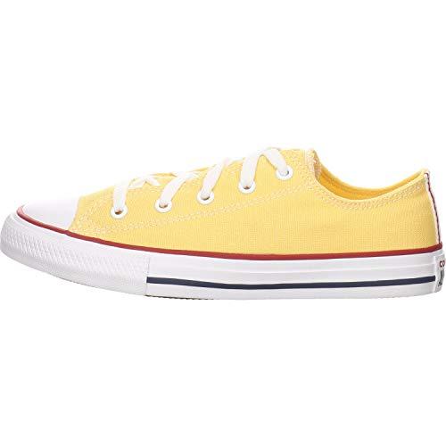 Converse Chuck Taylor All Star Ox Rosa/Rojo (Cherry Blossom/Garnet) Tela Adolescentes Entrenadores Zapatos