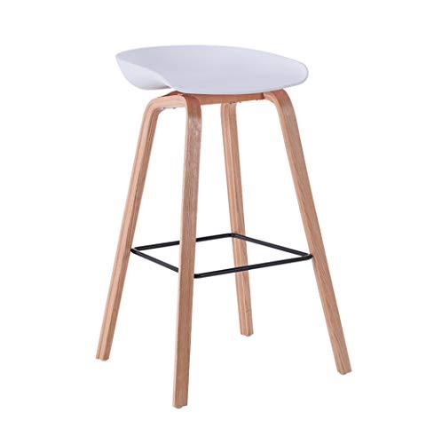 Tabouret de bar tabouret haut bar cuisine salle à manger chaises chaise de comptoir avec des jambes en bois massif convient à la famille et aux entreprises (blanc)