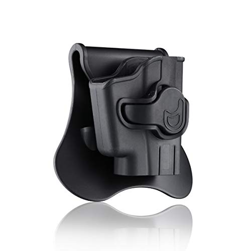 Paddle Holster for Ruger LCP with Crimson Trace Laser(Not LCP II), OWB Holster, 360° Adjustable Outside Waistband Polymer Holsters, Belt Carry Tactical Gun Holster - Right Handed