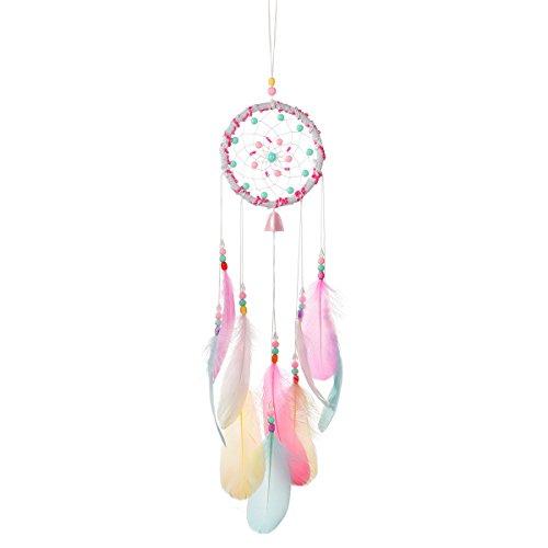 Tyhbelle Handgewebter Traumfänger pink gefertigt Dreamcatcher für Zimmerdekoration Traumfänger (Pink)