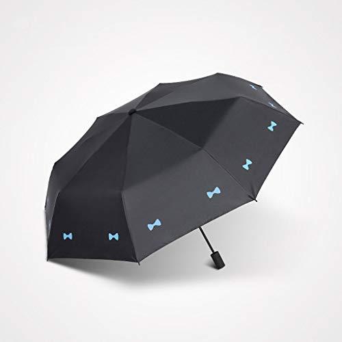 Unbekannt FEI Koreanische Version von Sonnenschirm Regenschirm Sonnencreme Anti-Uv Schwarz und BAI Regenschirm Female Folding Dual Use,Schwarz