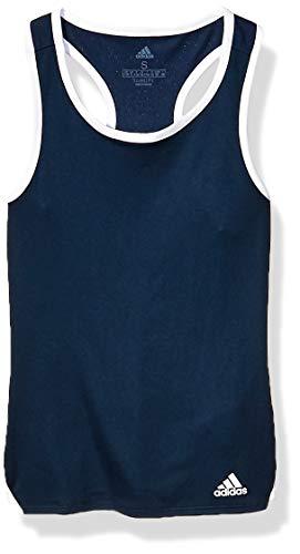 adidas Camiseta de Tirantes Club para niña, Club Tenis Tank, Niñas, Color Azul Marino, tamaño Extra-Large