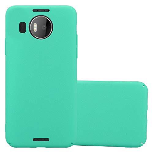 Cadorabo Custodia per Nokia Lumia 950 XL in FROSTY VERDE - Rigida Cover Protettiva Sottile con Bordo Protezione - Back Hard Case Ultra Slim Bumper Antiurto Guscio Plastica