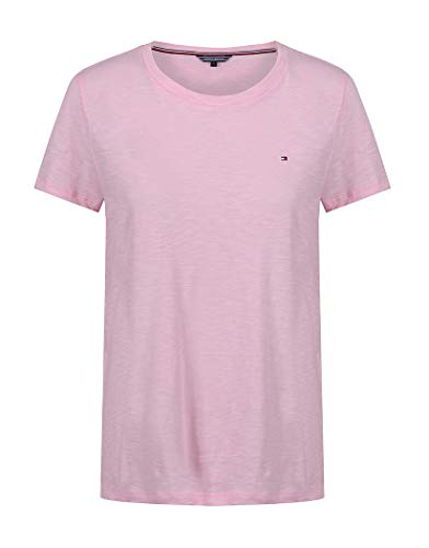 Tommy Hilfiger Damen Abby C-NK TOP SS Bluse, Orchid Pink, M