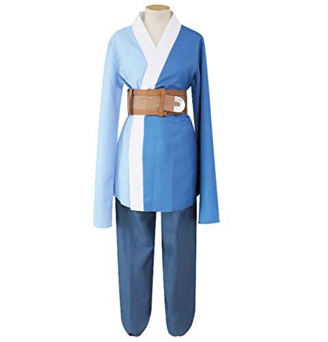 Anime Naruto Mitsuki Traje De Cosplay Adulto Hombres Vspera De Todos Los Santos Fiesta Disfraz Conjunto Top + Pantalones,Azul,One Size