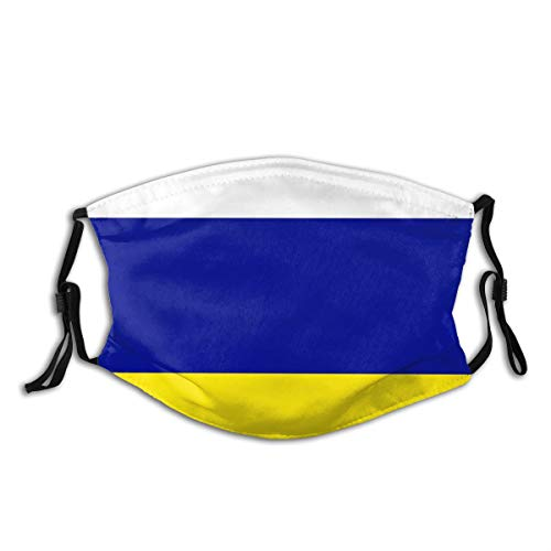YUDILINSA Face Cover,LeedsUnitedTricolour,Balaclava Unisex Reusable Windproof Anti Dust Mouth Bandanas Outdoor Camping Motorcycle Running Neck Gaiter With 2 Filters
