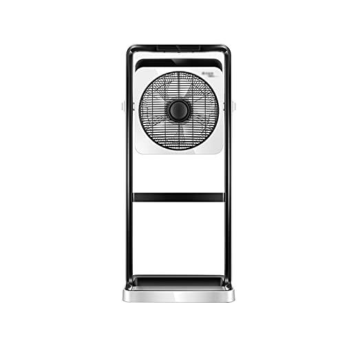 QINGZHUO Ventilador De Pie,Ventilador De Pedestal,con Control Remoto,24 Velocidades Ajustables,temporización De 15 Horas,Altura Ajustable,para Hogares,oficinas Y Dormitorios.