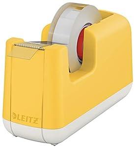 Leitz Klebeband-Tischabroller, Stabiler Stand, Warmes Gelb, Cosy-Serie, 53670019