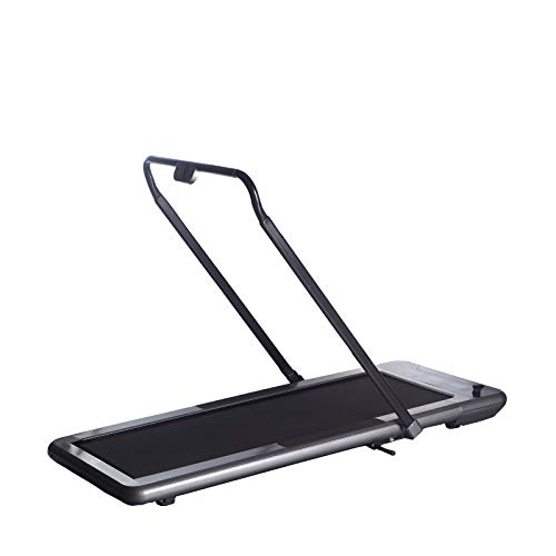 WalkSlim 470 Foldable Motorised Home Treadmill - Office Desk Walking Treadmill - LED Touchscreen, Calorie Counter, Remote Control, Foldable & Compact (Black)