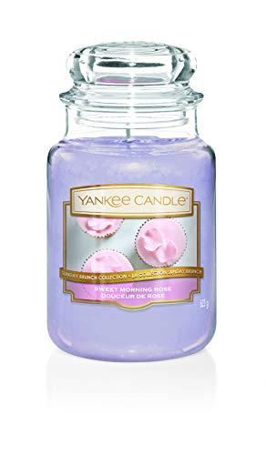 Yankee Candle Candela, Sweet Morning Rose, Large Jar