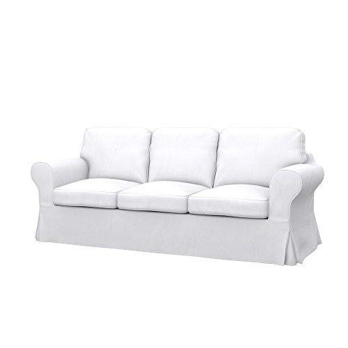 IKEA EKTORP PIXBO divano letto a 3 posti, tessuto Eco Leather White, beige