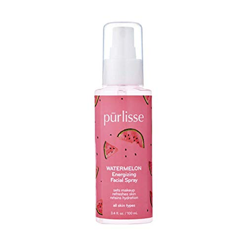 purlisse Watermelon Energizing Facial Mist Spray - Fresh & Light Hydrating Face Spray for All Skin Types