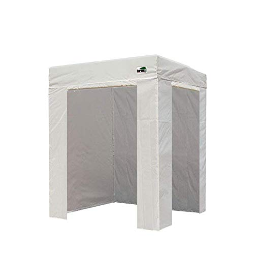 Eurmax Basic 5x5 Ez Pop up Canopy Instant Party Tent Flat Photo Booth Tent with 4 Sidewalls and Deluxe Carry Bag (White)