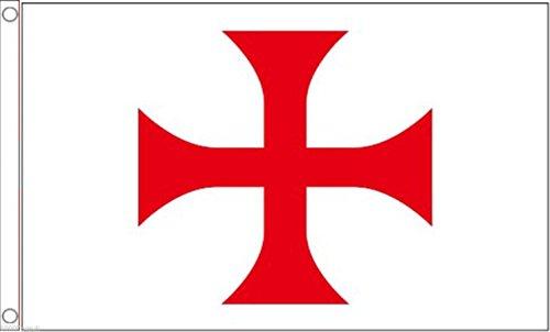 Crusades Chevaliers Templiers Croix Pattée Drapeau 150 x 90 cm Polyester tissé