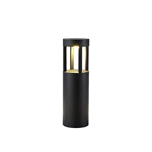 [Clase energética A+++]Farola cilíndrica modern Faros delanteros Negro Aluminio fundido Prevención óxido...