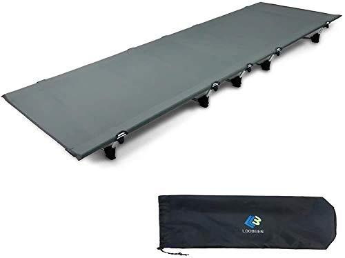 キャンプコット 折りたたみ式 アウトドアベッド キャンプ用コット 仮眠用 軽量2.2kg 強化版 耐荷150kg 収納袋付き