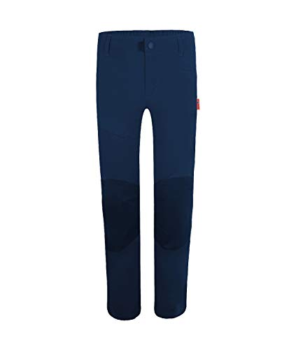 Trollkids Hammerfest Hose PRO Slim Fit, Marineblau/Orange, Größe 140