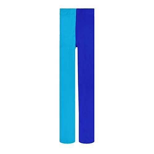 PRETYZOOM Meia-Calça Comprida Azul-Safira Feminina de Meia-Calça Dupla Tonificada Traje Legging Meia-Calça Tamanho Livre Duas Cores para Senhora Festa Legging Meia-Calça
