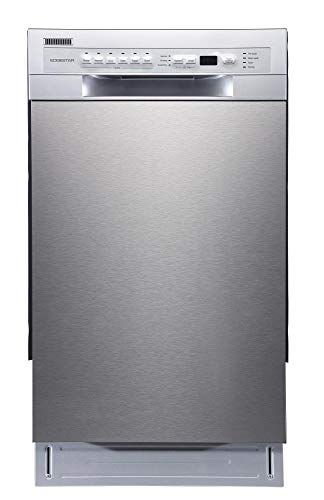 EdgeStar BIDW1802SS 18 Inch Wide 8 Place Setting Energy Star Rated Built-In Dishwasher