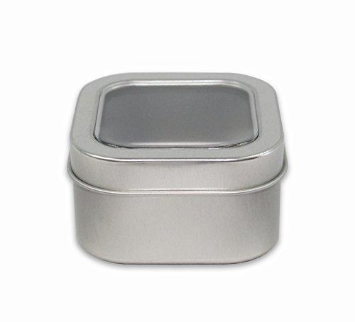 2dayShip Clear Top Tea Tin, 4oz, Pack of 12