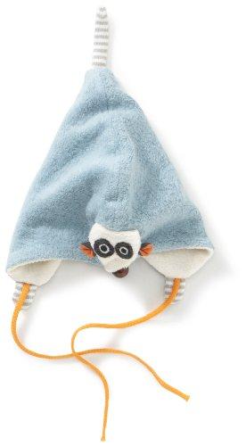 Lana Natural Wear 116 1815 5054 Bonnet pour bébé Motif Chouette - Bleu - 46/48