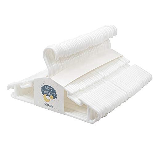 Tosnail de Perchas infantiles, 40 unidades, color blanco