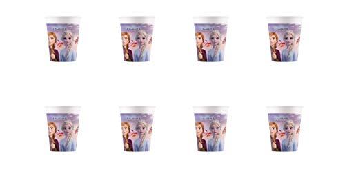 ALMACENESADAN 2545; Pack 8 Vasos Disney Frozen; Ideal para Fiestas y cumpleaños;...