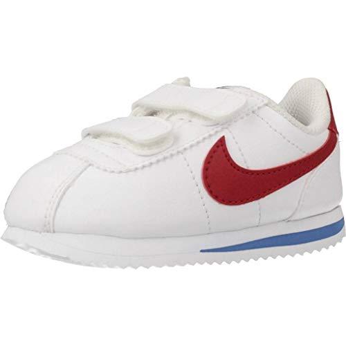 Nike Cortez Basic SL (TDV), Scarpe Running Unisex – Bambini, Bianco (White/Varsity Red/Varsity Royal/Black 103), 25 EU