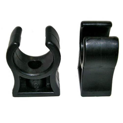 Rohrklemme RKPS 15 (25 Stück), 14-15 mm Rohrclips Rohrhalter Kunststoff Schwarz
