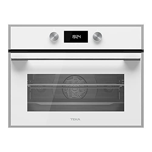 Teka Horno Compacto Multifunción, Función Microondas,11 funciones de cocinado, SurroundTemp +, Blanco, 45.5 x 59.5 x 55.9 cm, 40587612