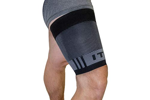 OS1st QS4 Compression Quad/Hamstring Sleeve with Iliotibial Band Brace to prevent ITBS, hamstring pulls and weak quads/thighs