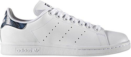 adidas Damen Stan Smith Lederschuhe, Weiß - FTW White Ftwwh Blau - Größe: 36 EU