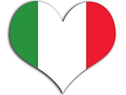 Hart voorgevormde Italië Vlag Sticker (Italia, Italiaans) Quote Muursticker Beauty Muursticker als een geschenk aan uw vriend Kinderen liefhebber