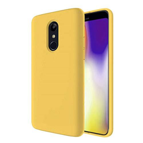 TBOC Funda para LG K8 (2018) - LG K9 [5.0 Pulgadas]- Carcasa Rígida [Amarilla] Silicona Líquida Premium [Tacto Suave] Forro Interior Microfibra [Protege la Cámara] Antideslizante Resistente Suciedad