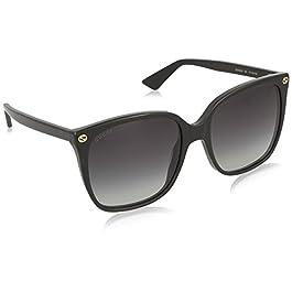Gucci Women's 0022S_001 (57 mm) Sunglasses, Black, 57