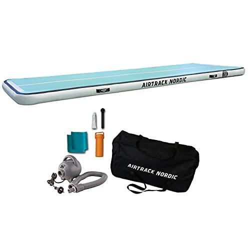 Airtrack Nordic Home 3m Special Edition Gimnasia colchoneta - con bomba de aire eléctrica, esterilla inflable de gimnasia, ideal para gimnasia, yoga