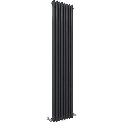 Global - Radiador vertical (1800 x 354 mm, hierro fundido, vertical, de doble...