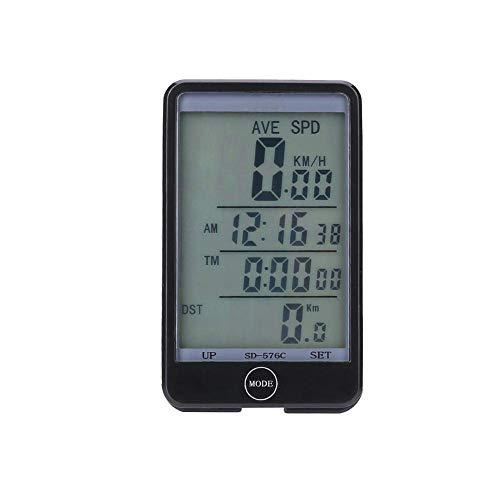 Maikong Fietscomputer, draadloos lcd-display, draadloos, 27 functies, fietscomputer, snelheidsmeter, waterdicht, kilometerteller, voor wielrennen, realtime speedtrack