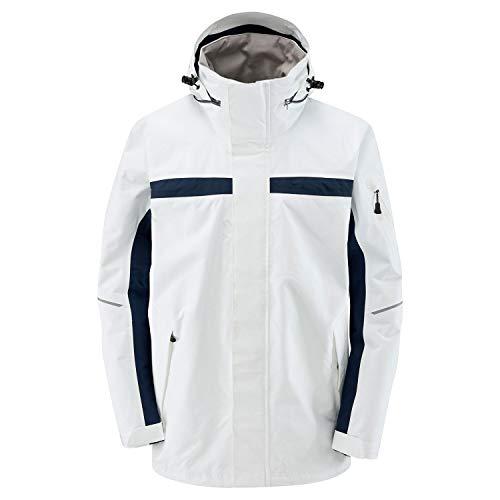 Henri Lloyd Sail 2.0 Inshore Sailing & Yachting Coastal Coat Abrigo de Chaqueta Blanco óptico. Impermeable y Transpirable