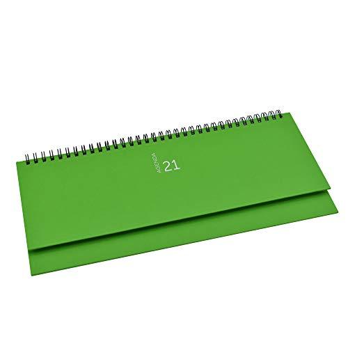 takestop Planning da Tavolo Agenda 2021 Verde Chiaro SETTIMANALE Spirale DIARIO 30x15 CM DIARIO Blocco Notes Copertina Rigida