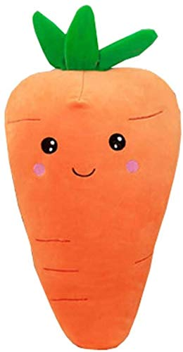 YUY Almohada De Zanahoria Vegetal, Adorable Felpa De PP para Cojín Suave, Regalos De Cumpleaños, Decoraciones para El Hogar, Regalo para Niños Y Adultos,90cm
