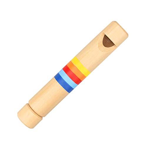 STOBOK Juguete de Silbato de Flauta de Madera Flauta Juguetes de Instrumentos Musicales Generador de Ruido para Bebés Y Niños Pequeños